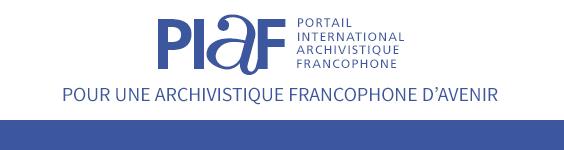 En-tête Pour une archivistique francophone d'avenir